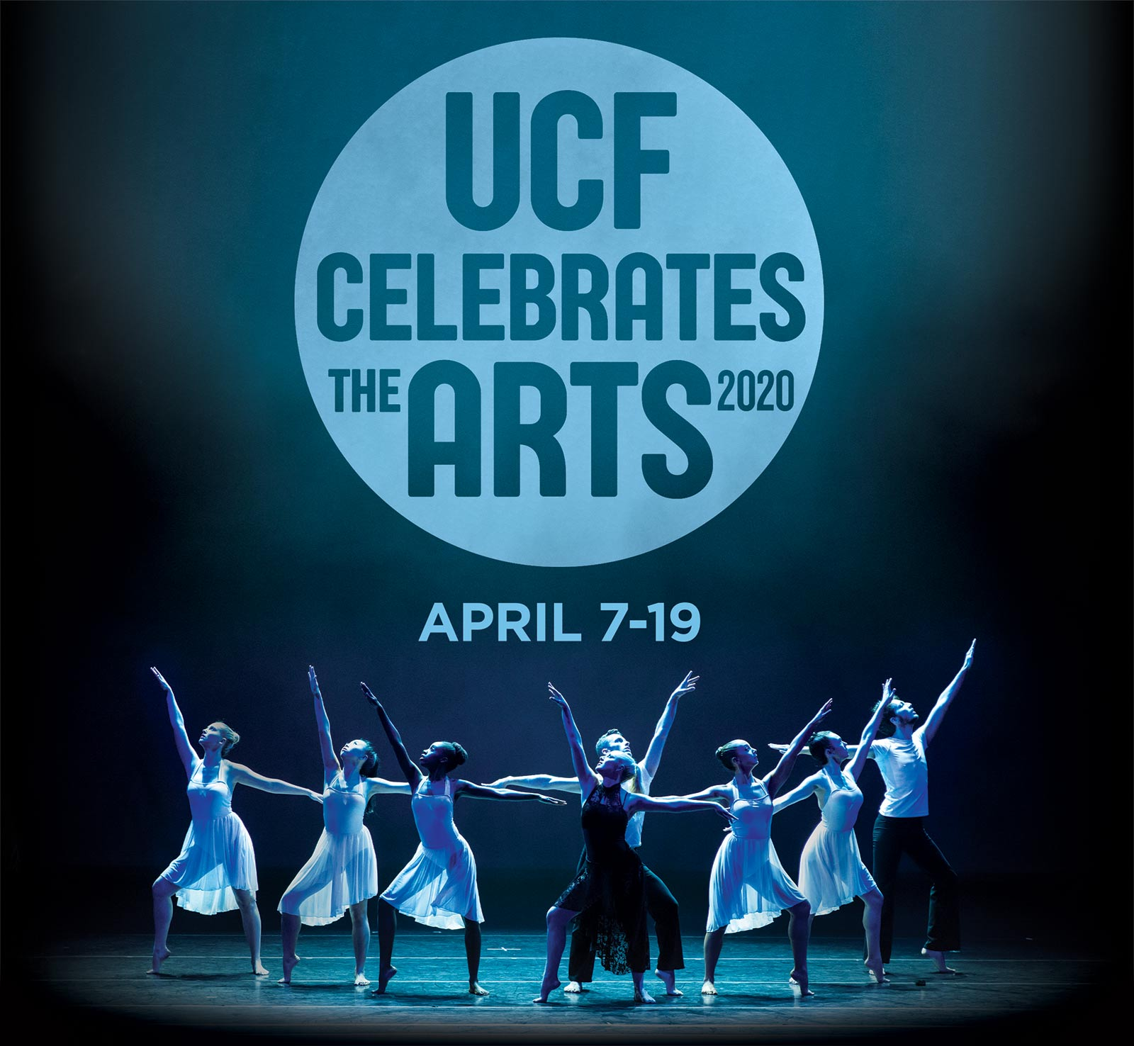 UCF Celebrates the Arts 2020, April 7-19 with photo of ballet dancers
